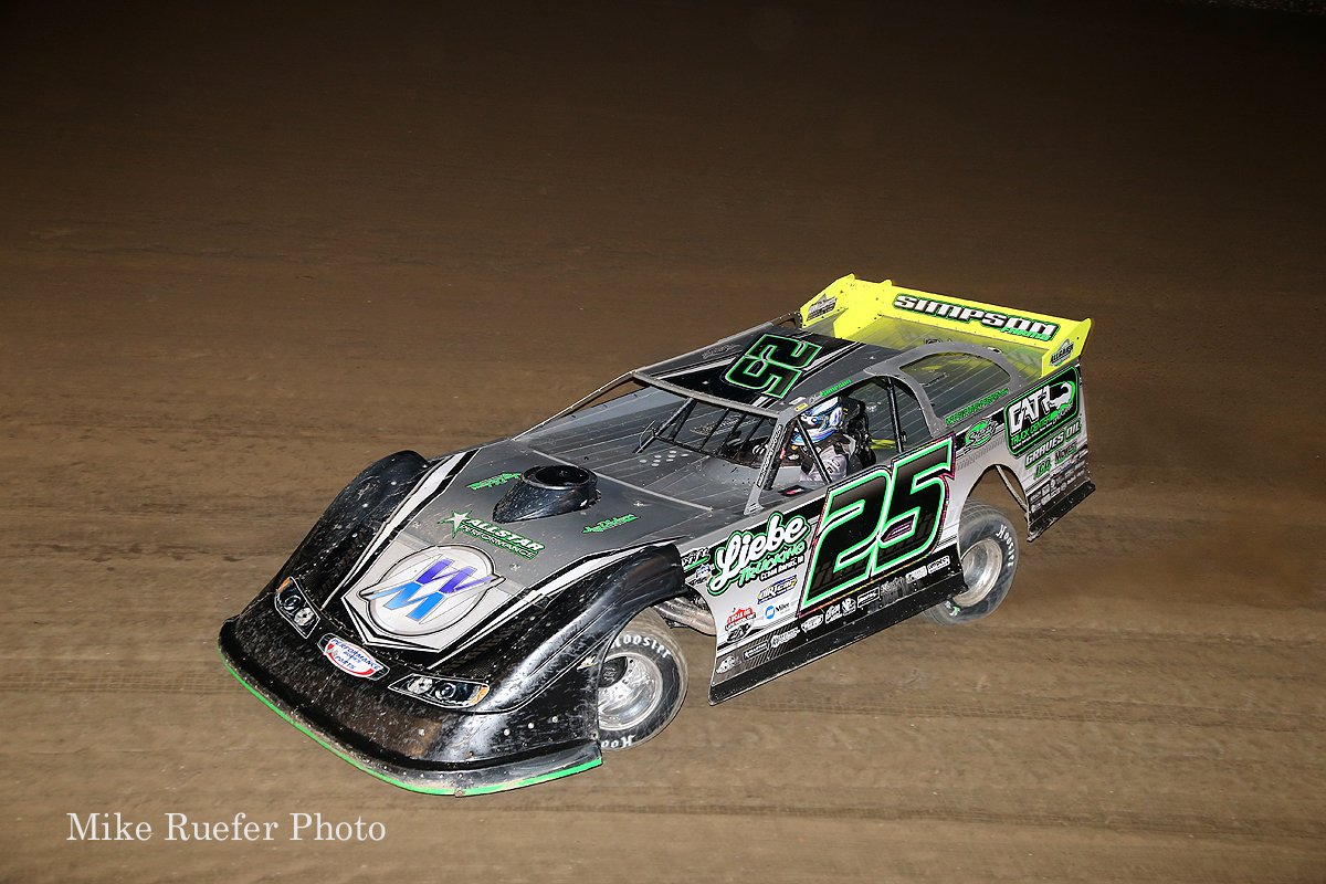 Chad Simpson in the World 100 at Eldora Speedway