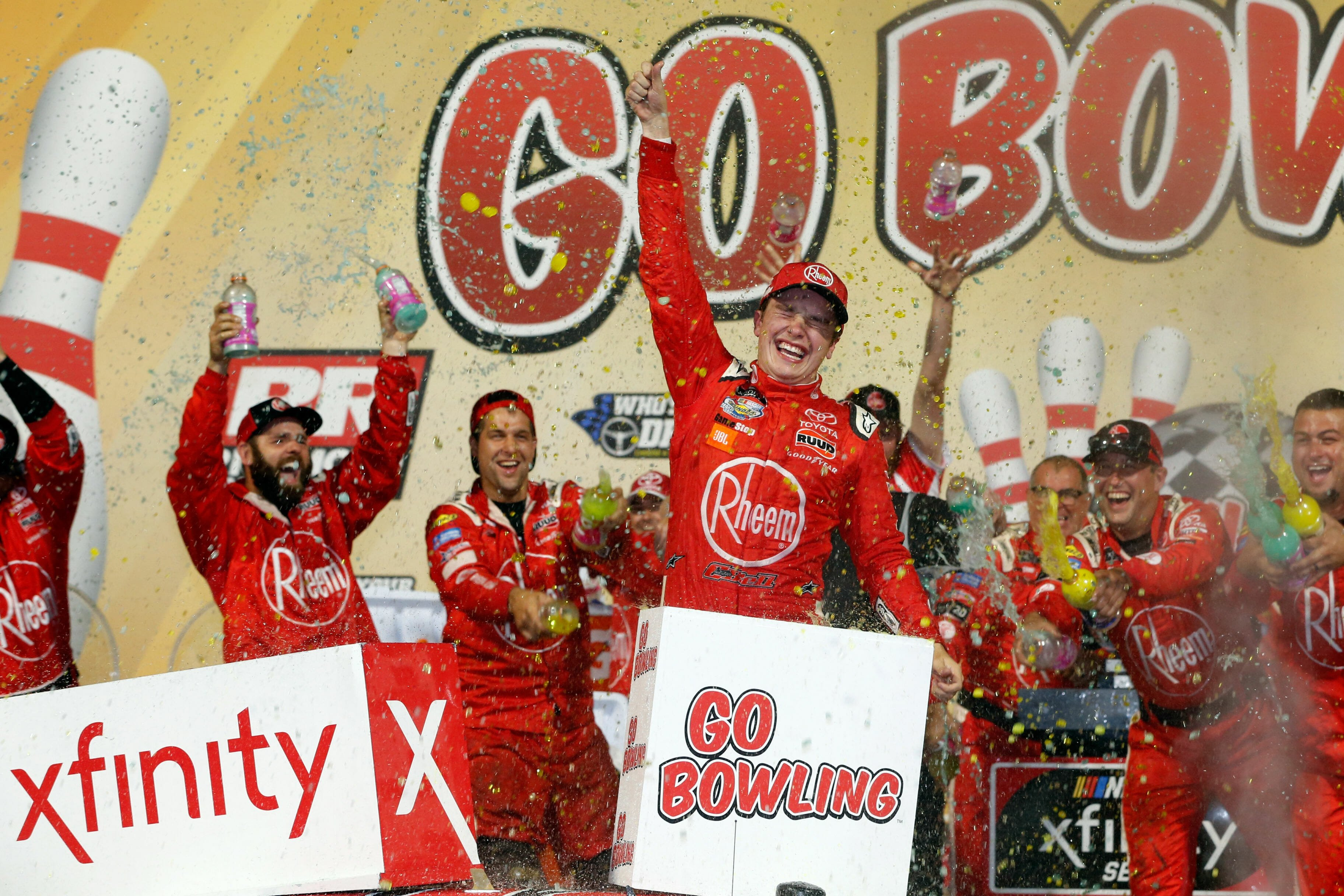 Christopher Bell in victory lane at Richmond Raceway