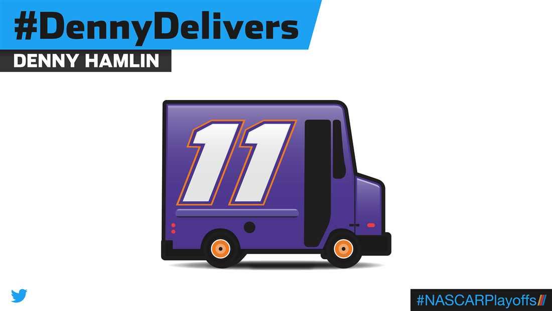 Denny Hamlin emoji - DennyDelivers