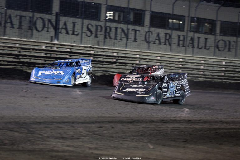 Don O'Neal, Scott Bloomquist and Bobby Pierce at Knoxville Raceway 9439