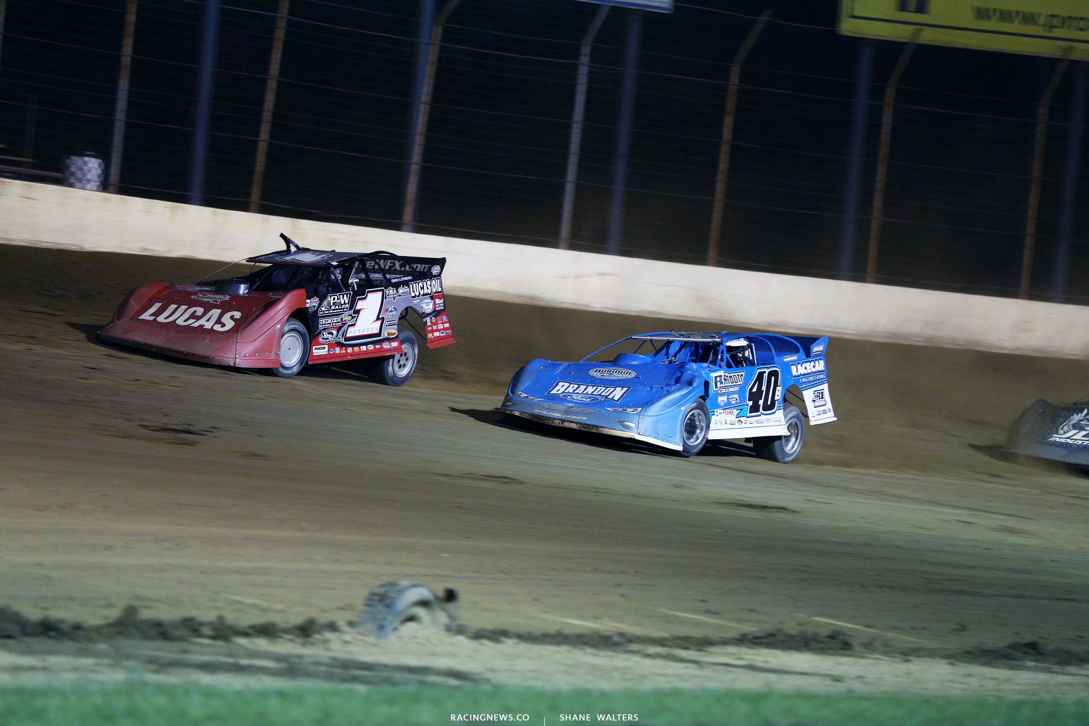Earl Pearson Jr and Kyle Bronson at Portsmouth Raceway Park 7430
