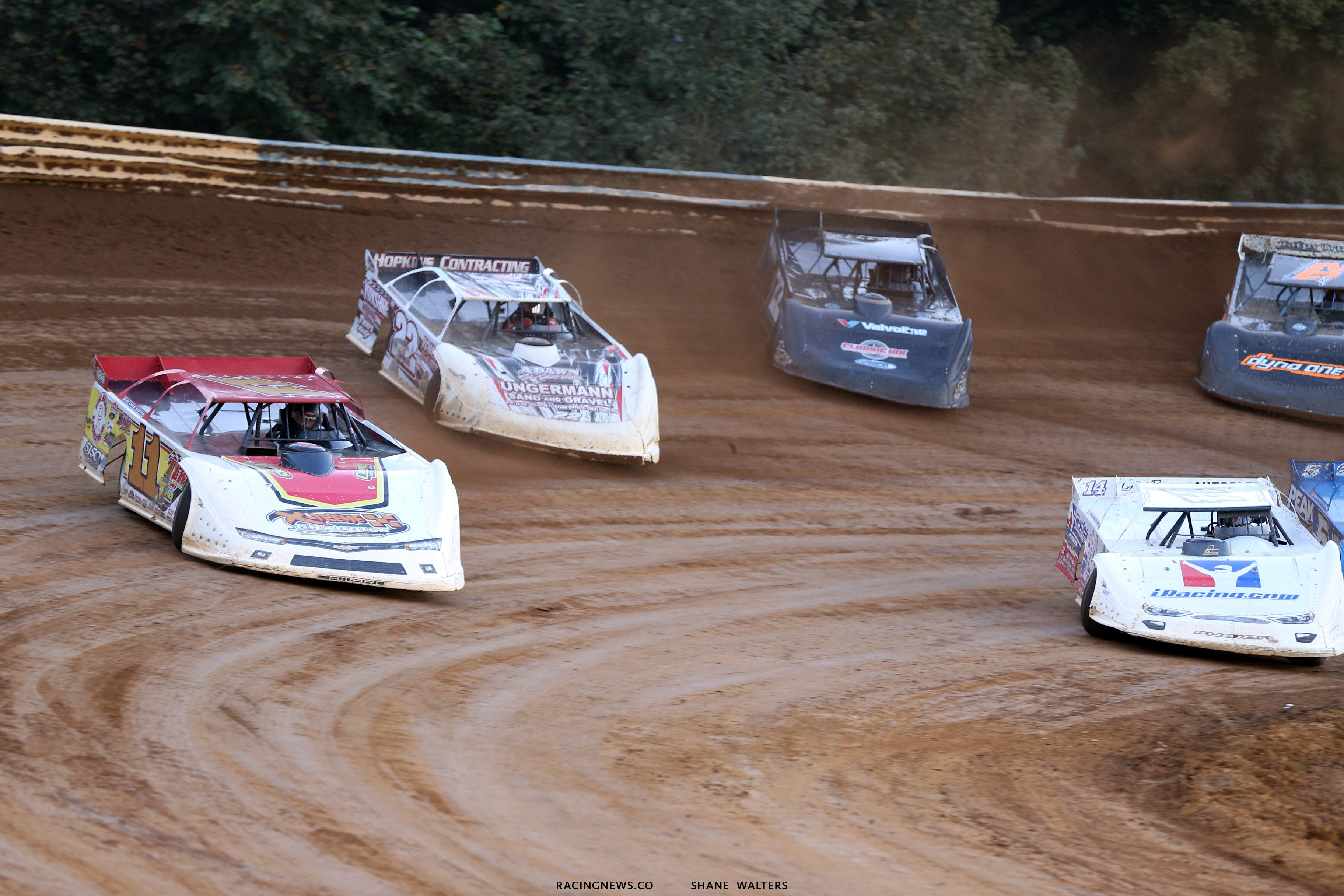 Jared Hawkins leads at Tyler County Speedway 7748