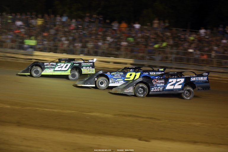 Jimmy Owens, Tyler Erb and Gregg Satterlee at Tyler County Speedway