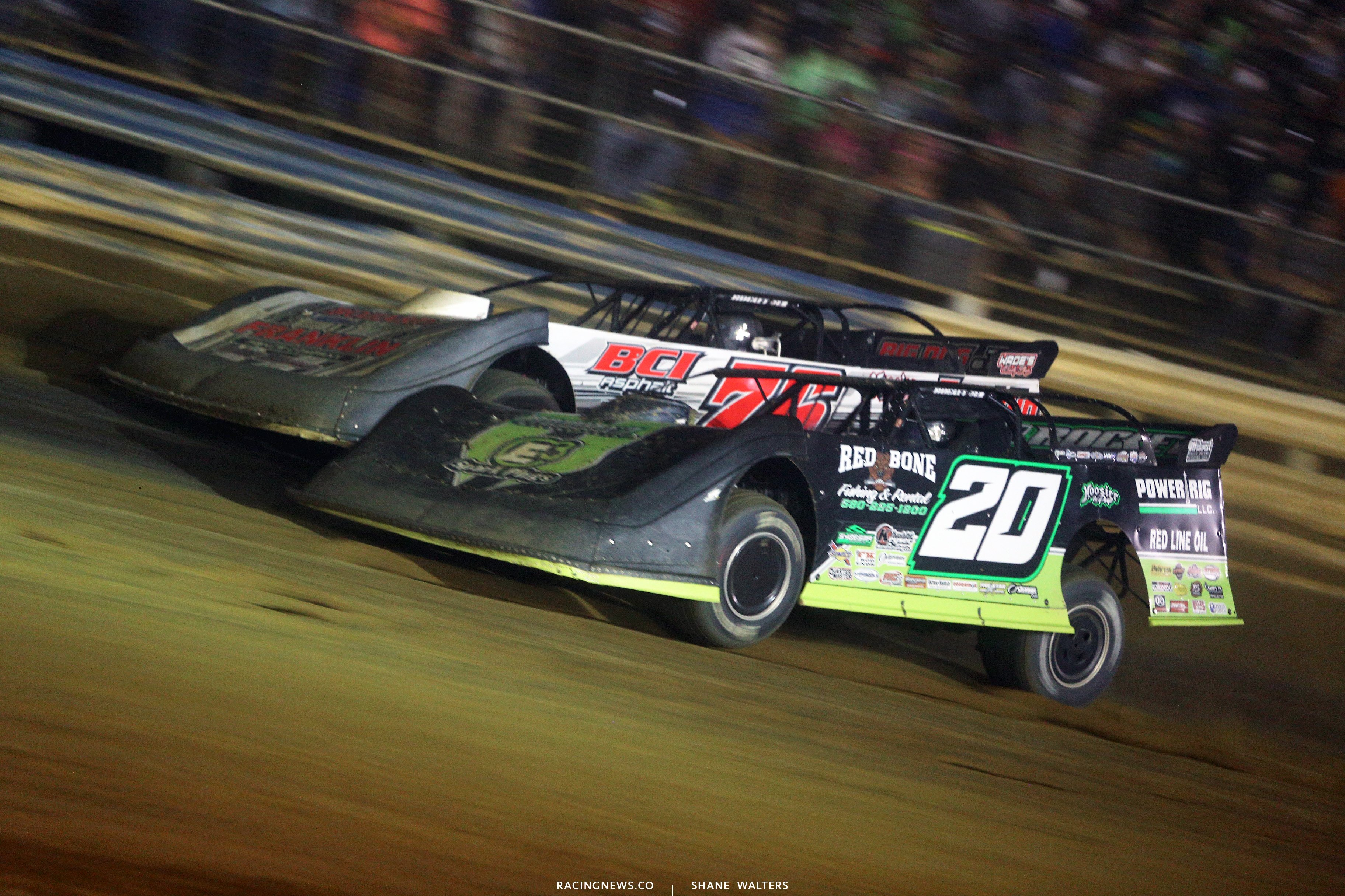 Jimmy Owens and Brandon Overton at Tyler County Speedway 8039