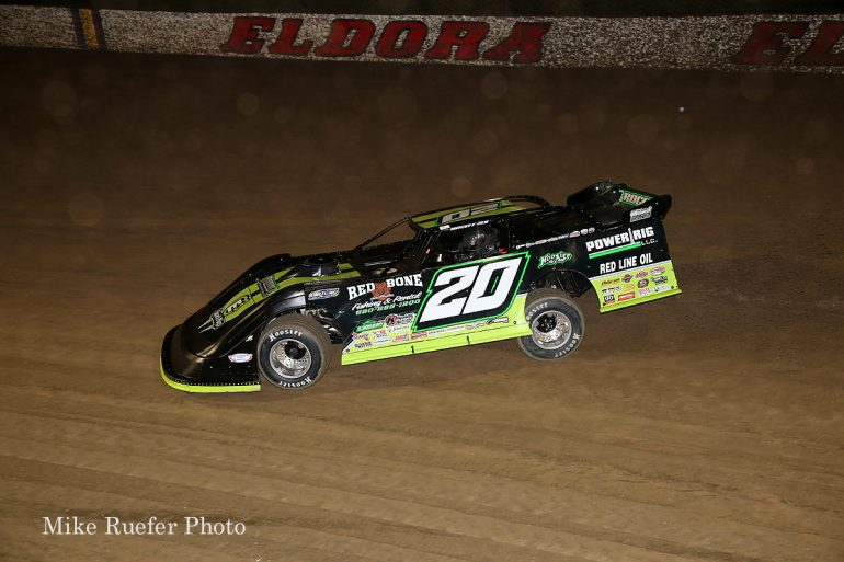 Jimmy Owens in the World 100 at Eldora Speedway