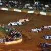 Jonathan Davenport and Tim McCreadie at Dixie Speedway 0691