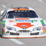 Justin Boston driving the Zloop car for Venturini Motorsports in the ARCA Racing Series