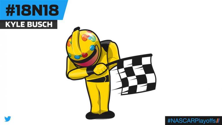 Kyle Busch emoji - 18N18