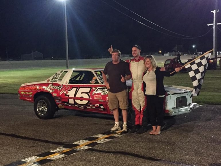 Lonnie Saumier in victory lane