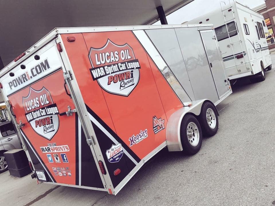 Lucas Oil WAR Sprint car League motorhome and trailer stolen