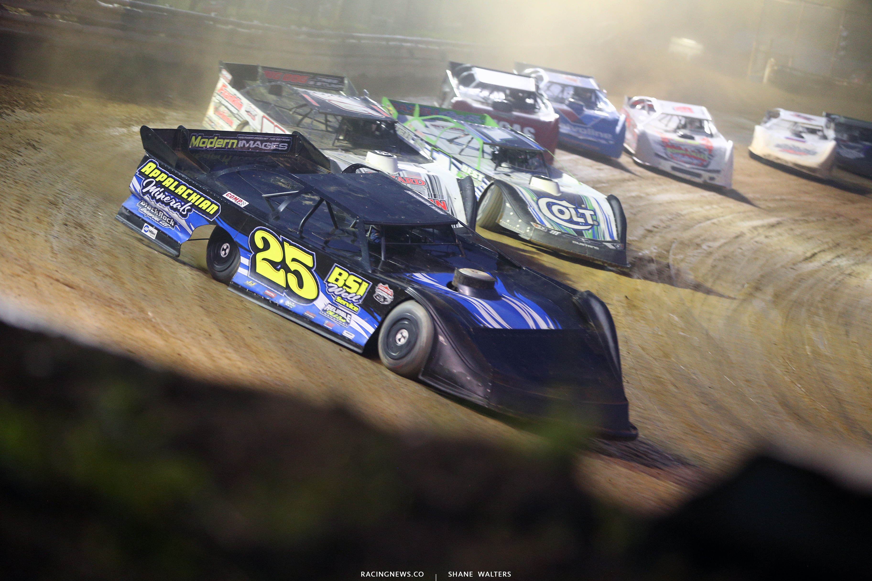 Mike Benedum leads at Tyler County Speedway 7865