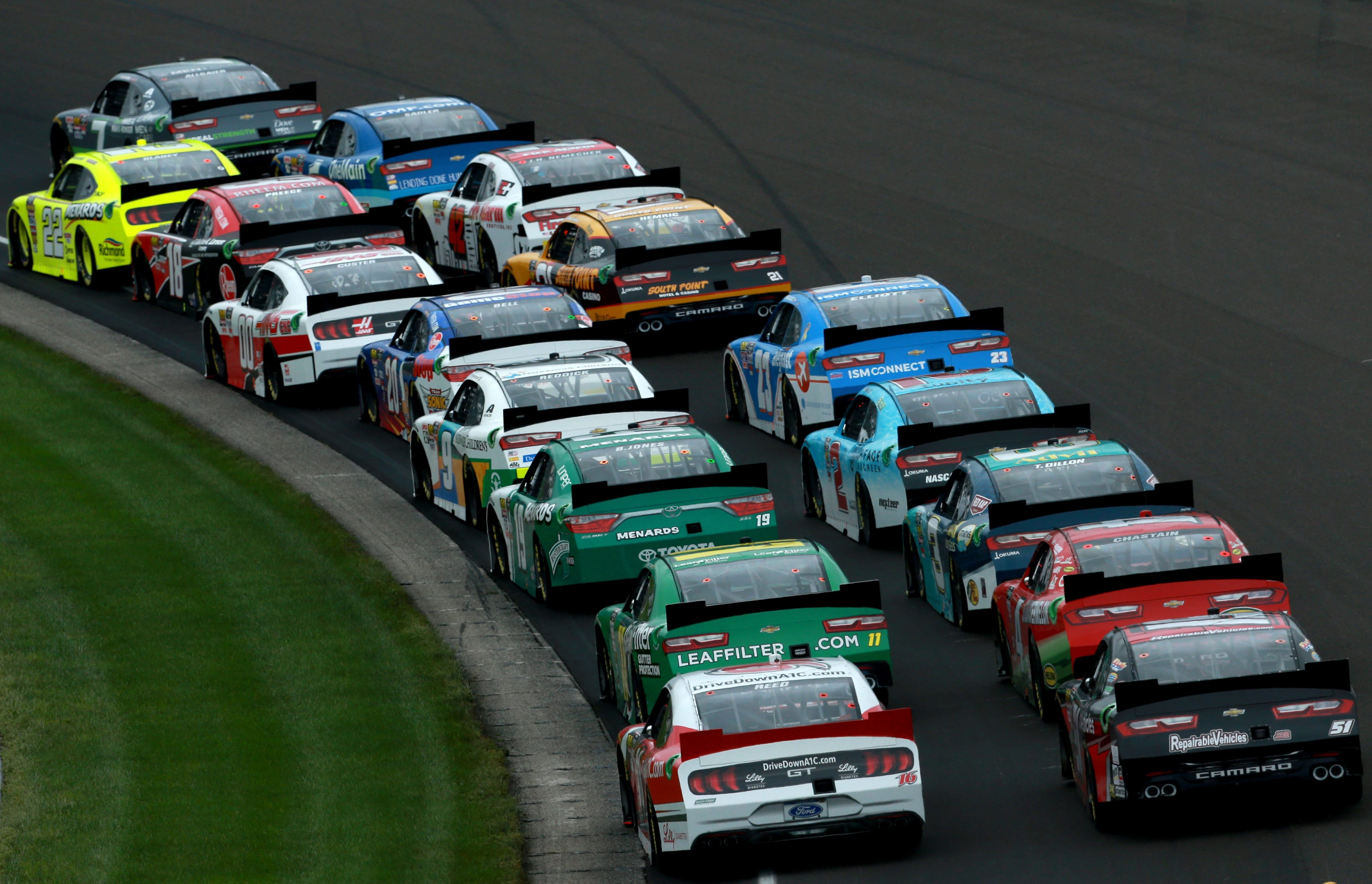 NASCAR Xfinity Series at Indianapolis Motor Speedway - Justin Allgaier and Ryan Blaney lead