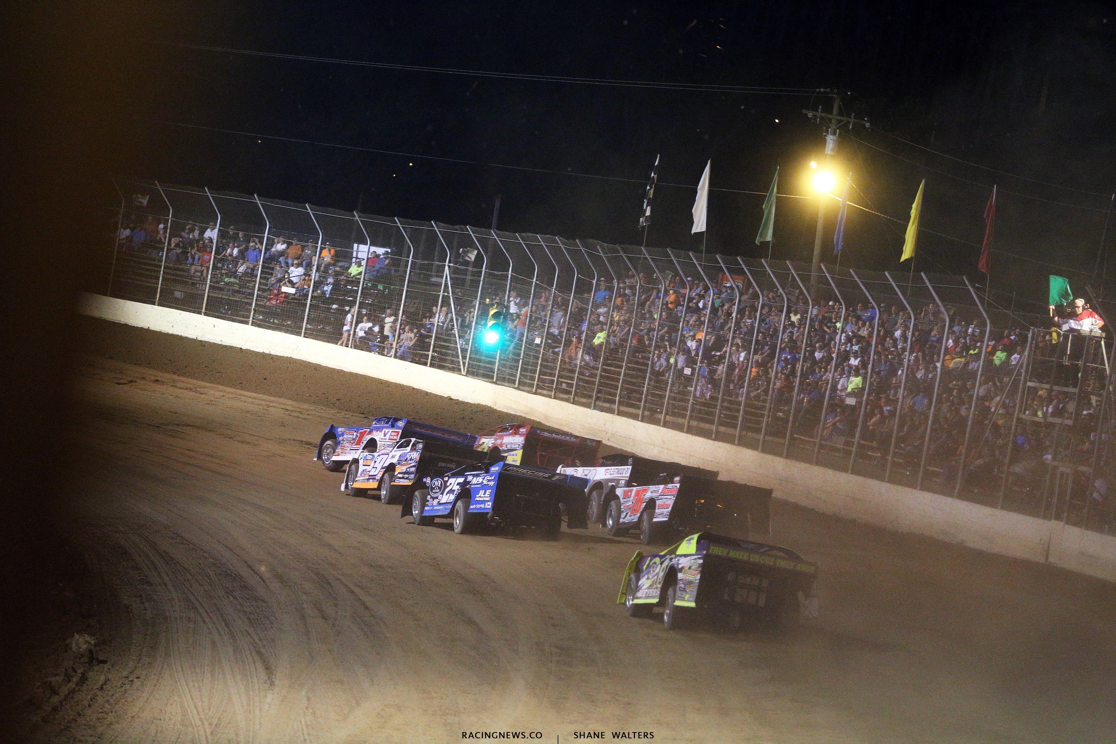 Portsmouth Raceway Park dirt track racing crash photos 7295