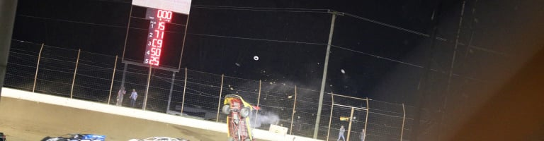RJ Conley barrel rolled at Portsmouth Raceway Park (Sequence Photos)