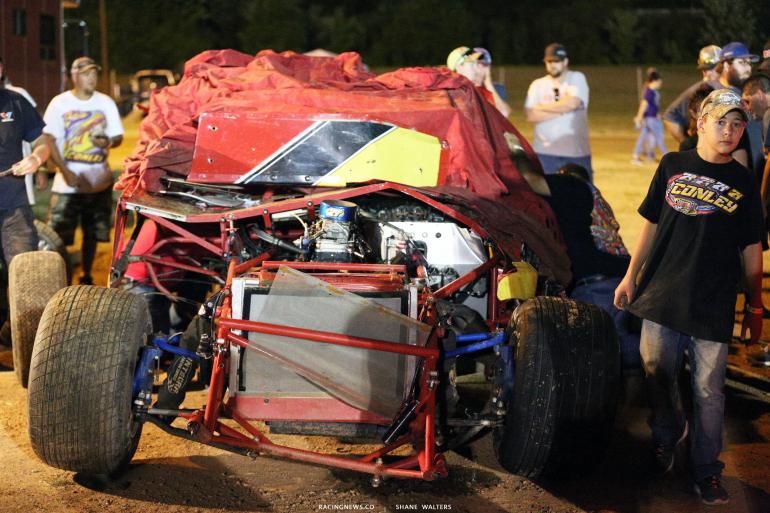 RJ Conley crash at Portsmouth Raceway Park 7319
