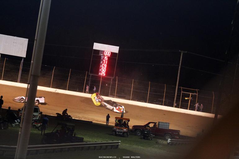 RJ Conley - dirt track racing crash 7307