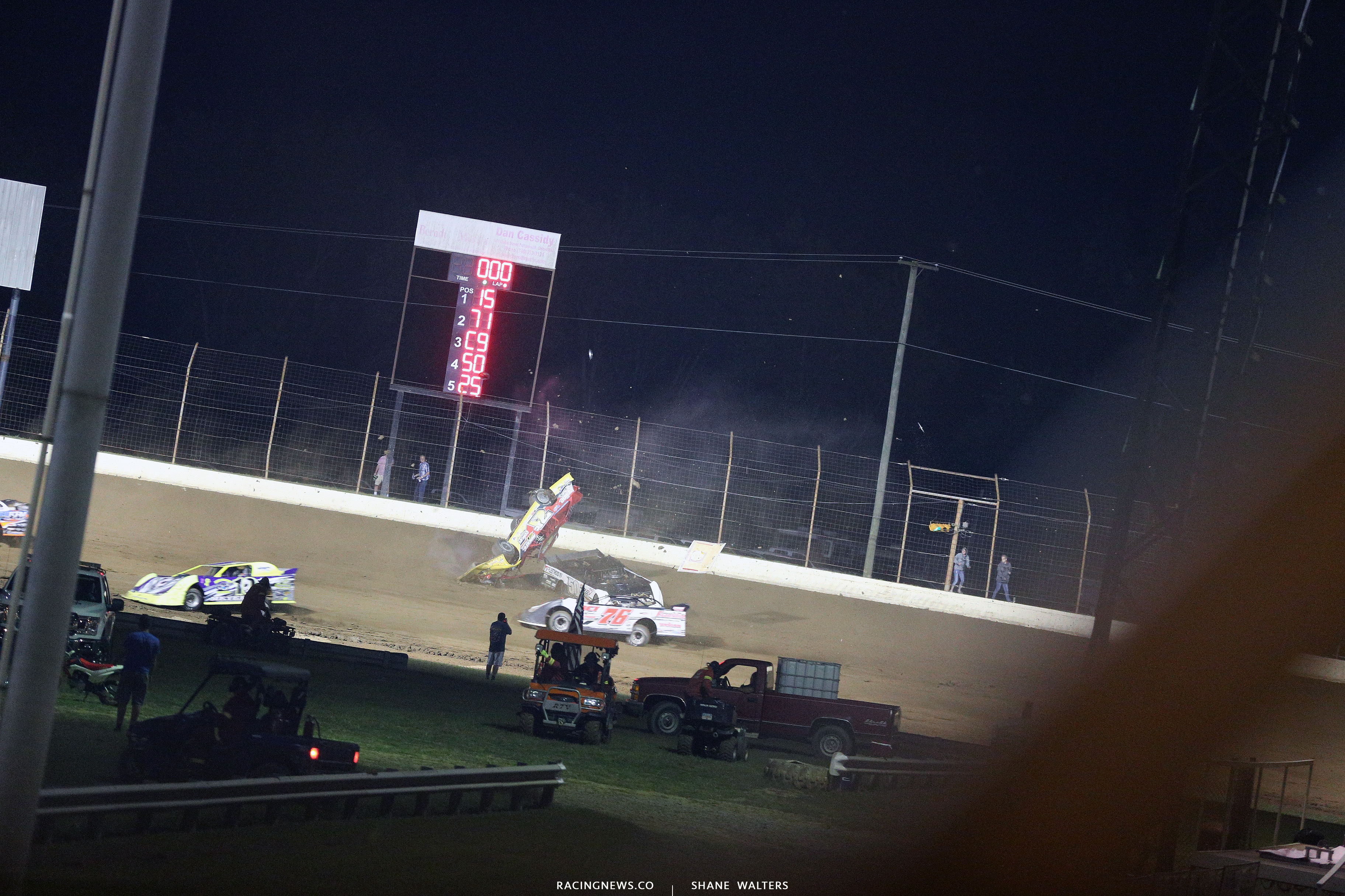 RJ Conley rollover at Portsmouth Raceway Park 7304