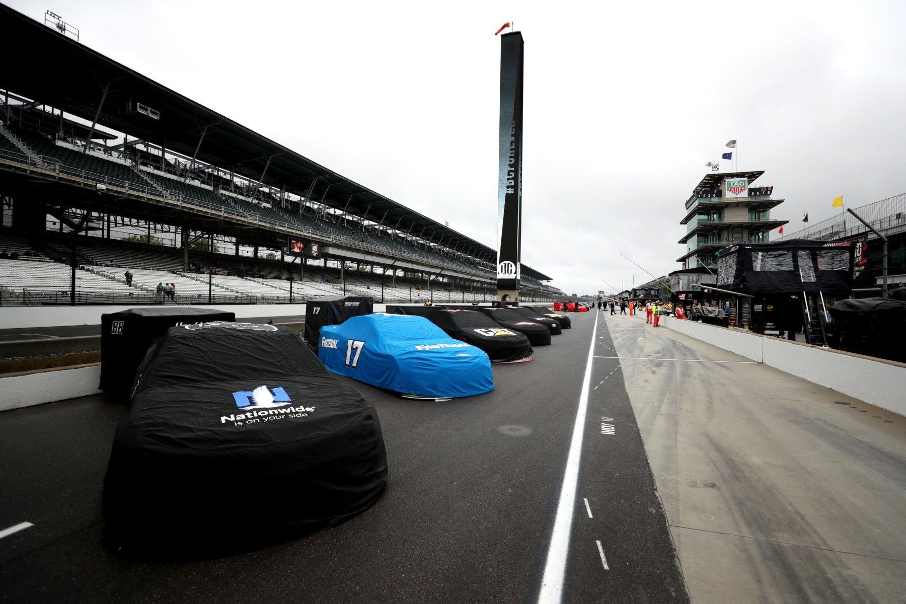 Rain at Indianapolis Motor Speedway