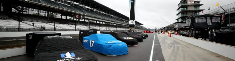 NASCAR Cup Series event at Indianapolis Motor Speedway postponed to Monday