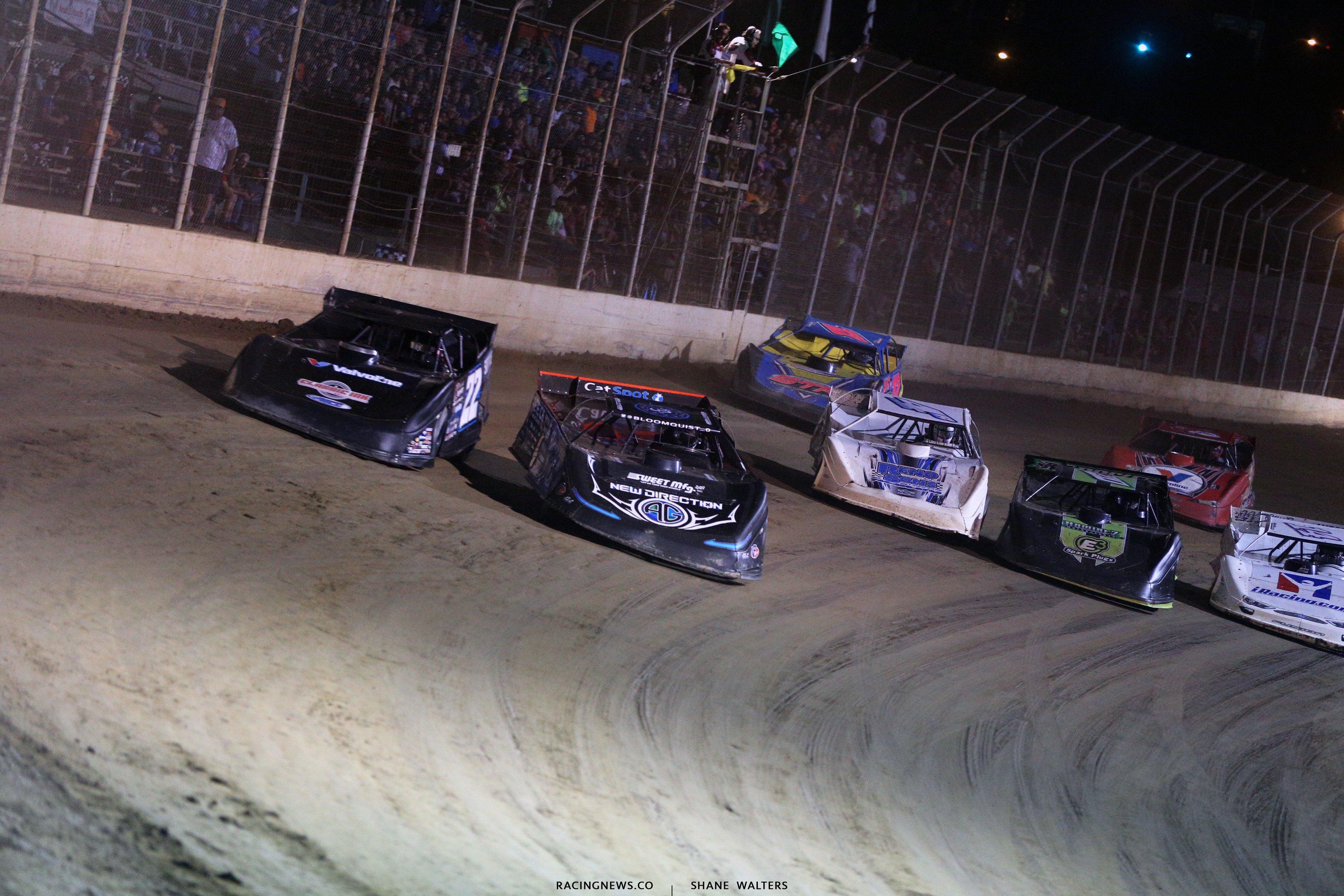 Scott Bloomquist and Gregg Satterlee at Portsmouth Raceway Park 7238