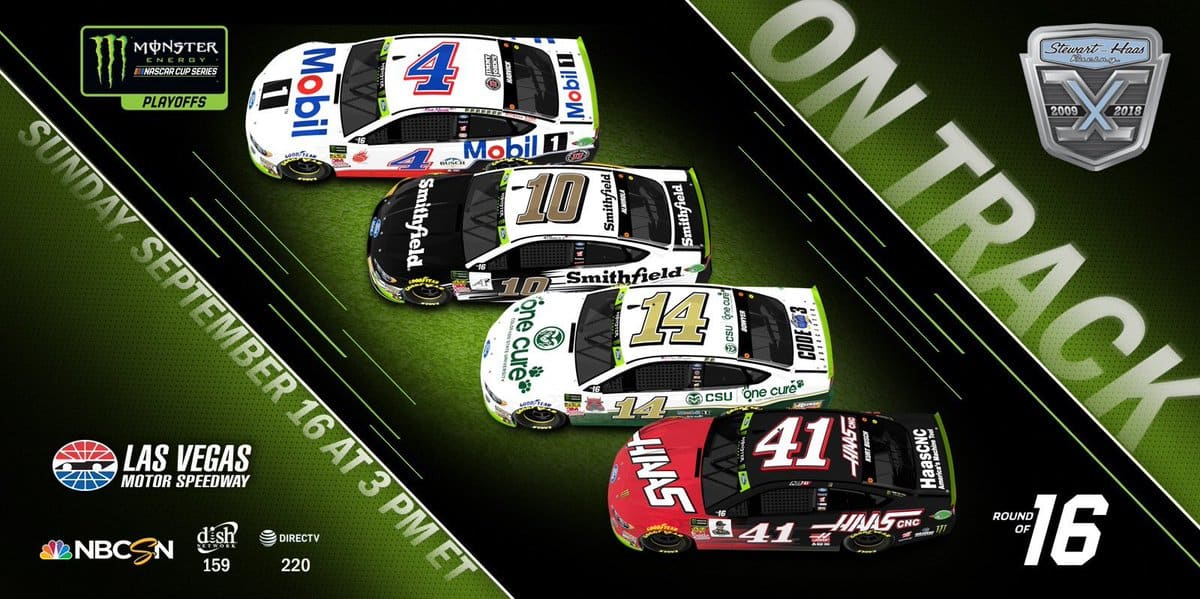 Stewart Haas Racing paint schemes for Las Vegas Motor Speedway