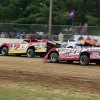 Tim McCreadie, Jonathan Davenport and Bobby Pierce at Brownstown Speedway in the Jackson 100 0345