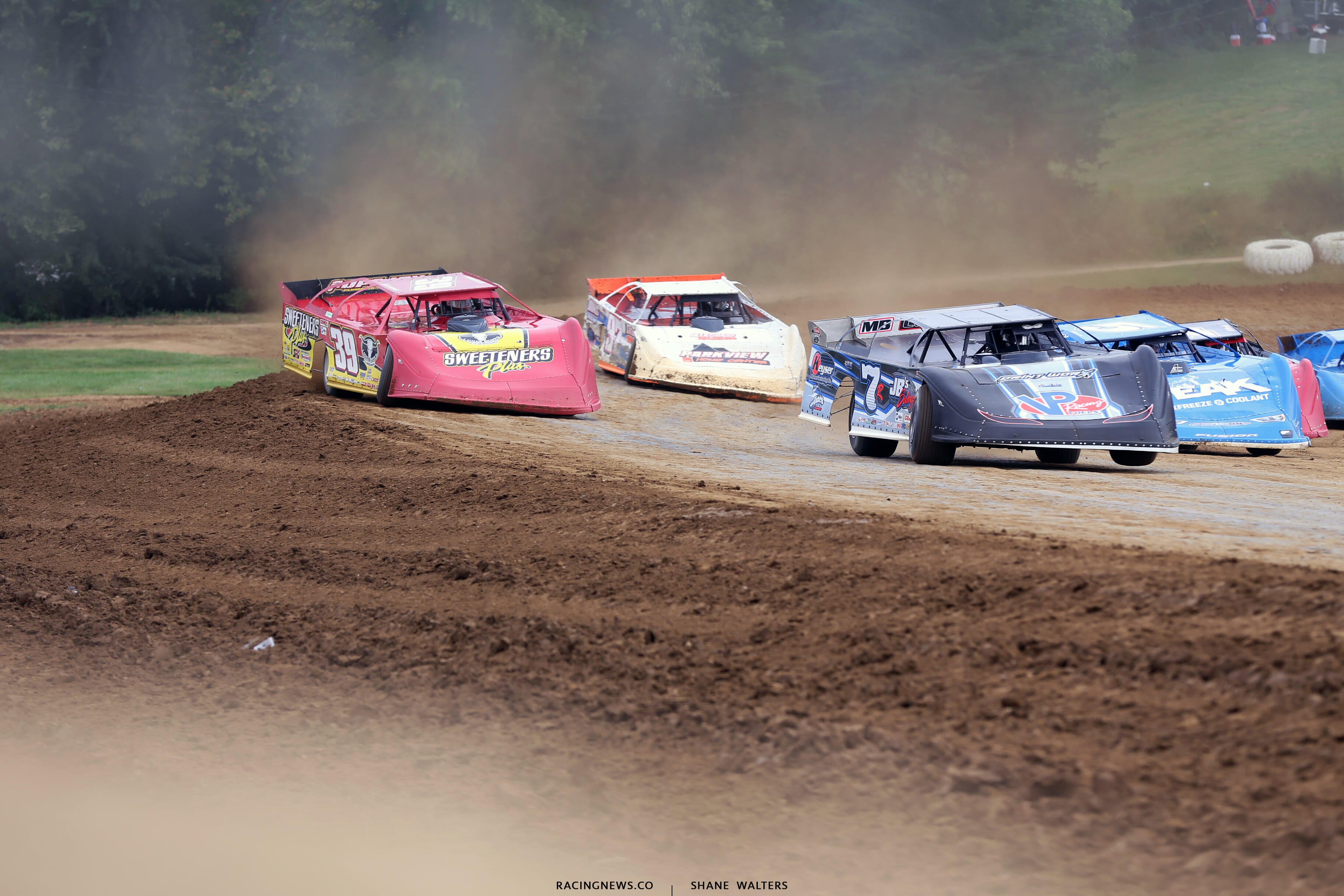 Tim McCreadie and Kent Robinson at Brownstown Speedway for the Jackson 100 0035