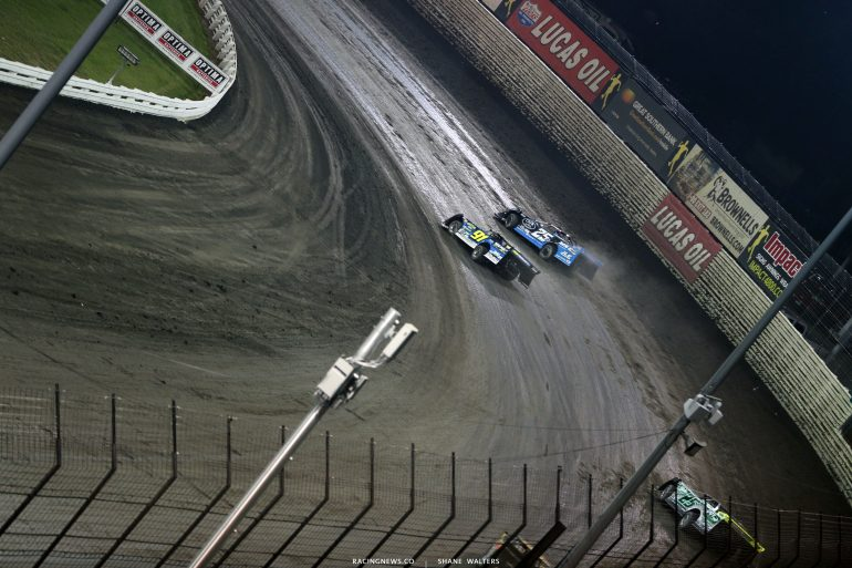 Tyler Erb and Mason Zeigler at Knoxville Raceway 8641