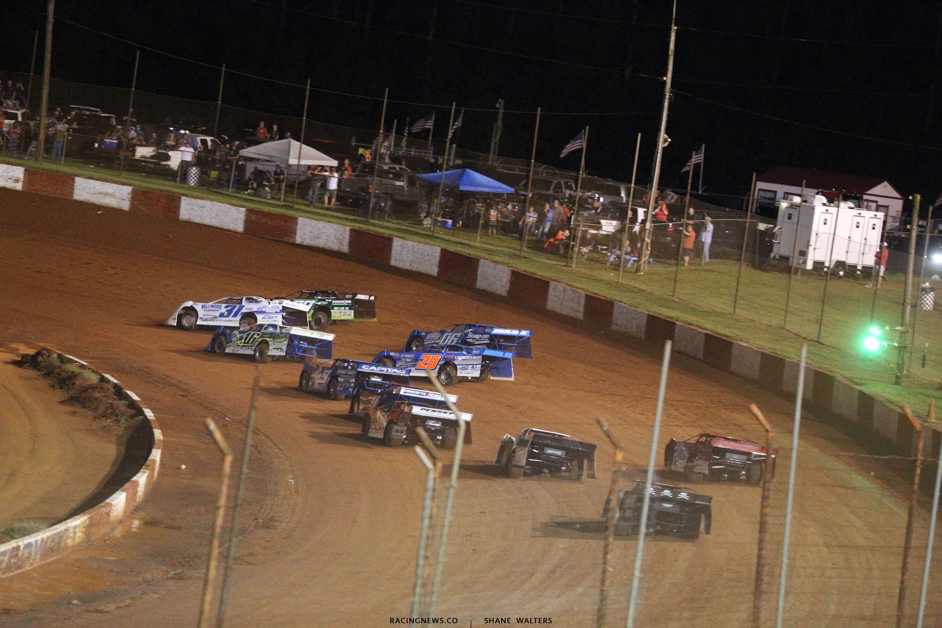 Tyler Millwood and Jimmy Owens at Dixie Speedway 0664
