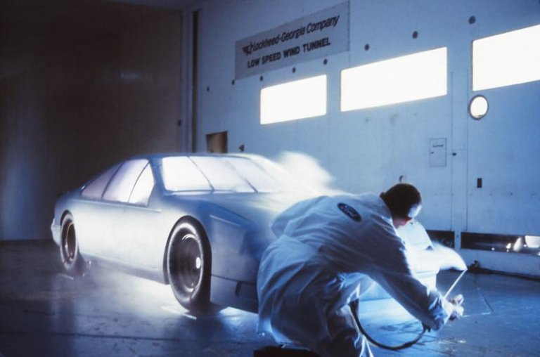 1989 Thunderbird in the wind tunnel