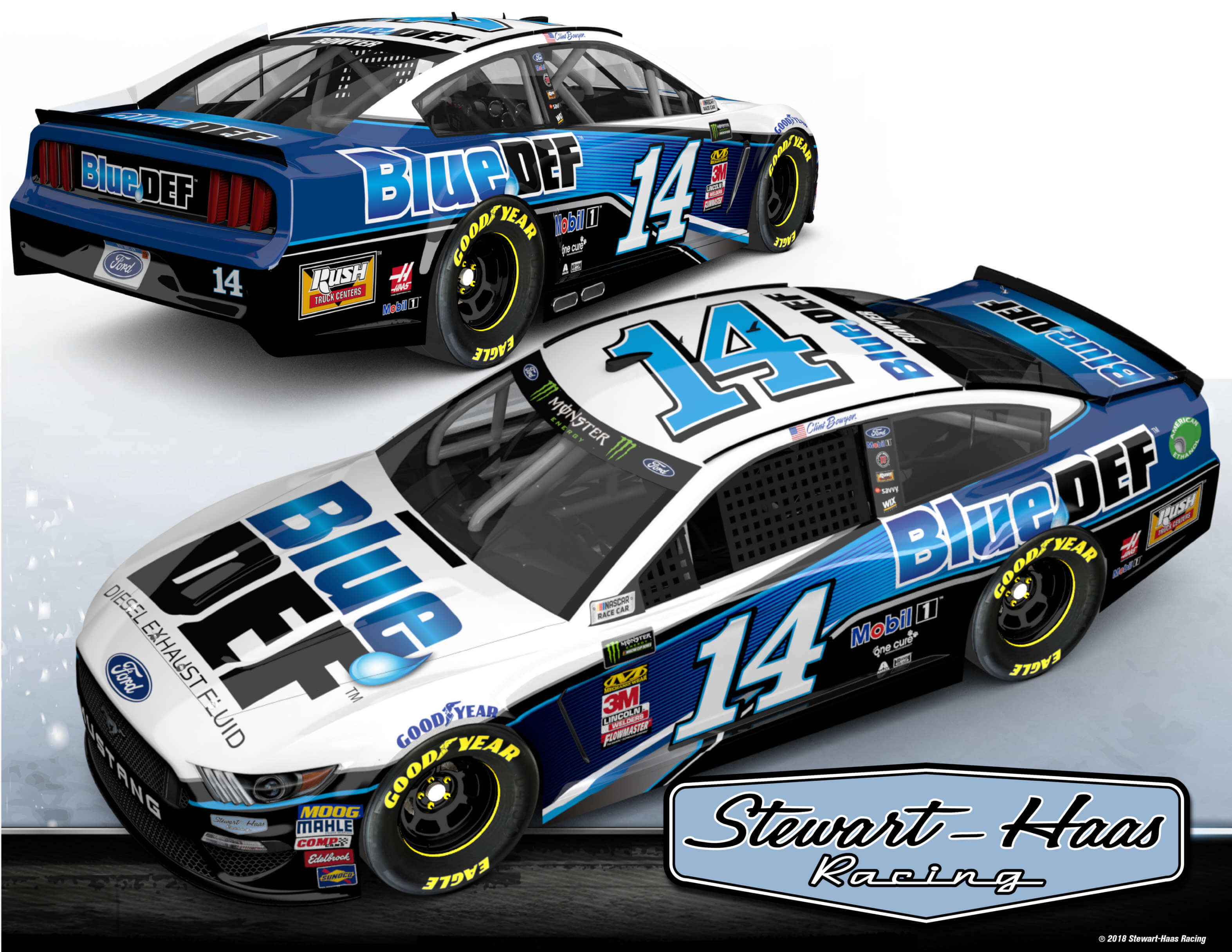 2019 Clint Bowyer - Peak Blue Def Paint Scheme
