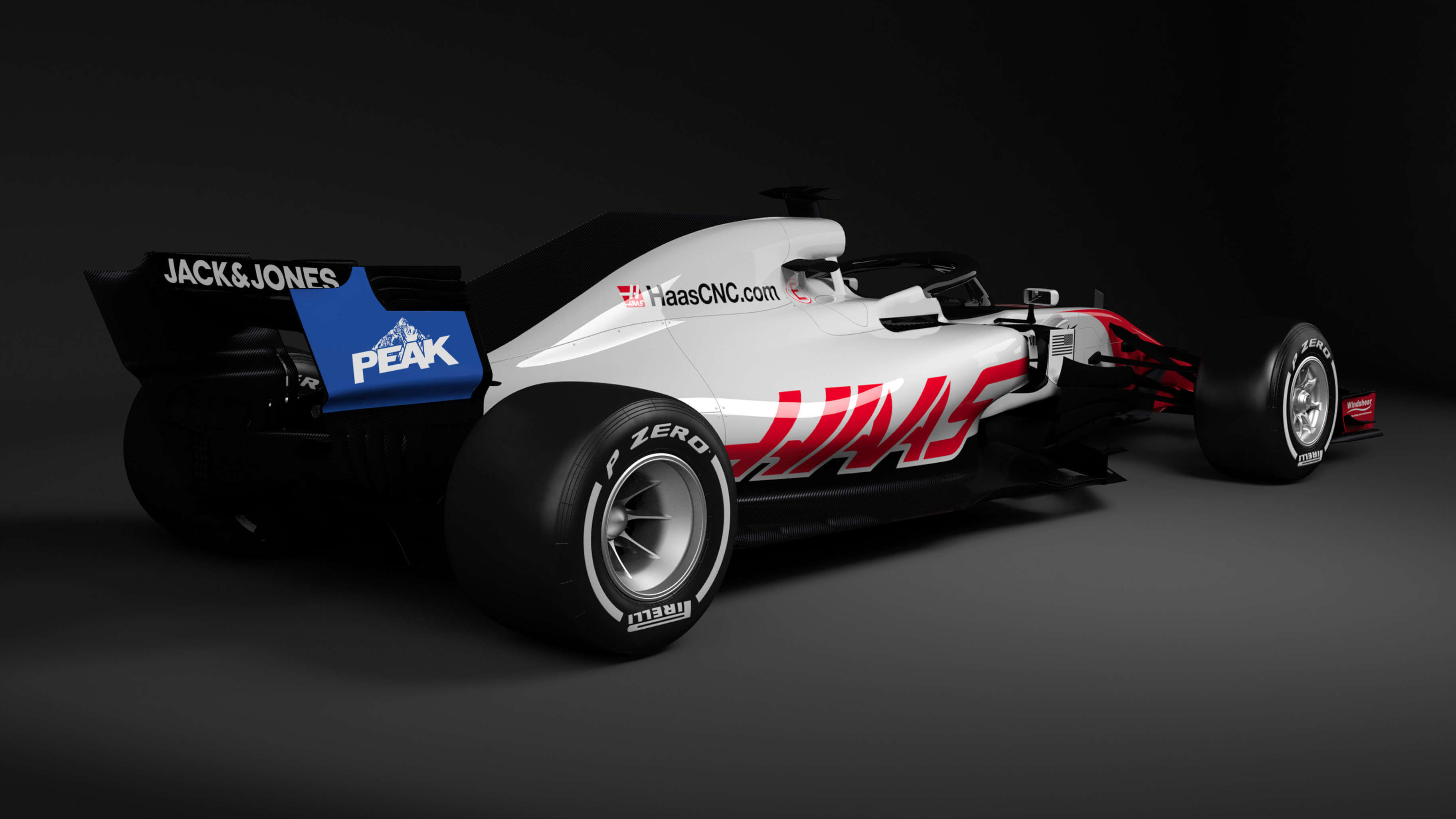 2019 Haas F1 Team - Peak Antifreeze Paint Scheme