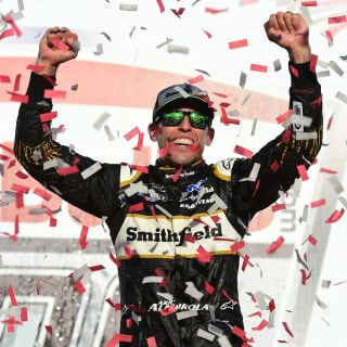 Aric Almirola in victory lane