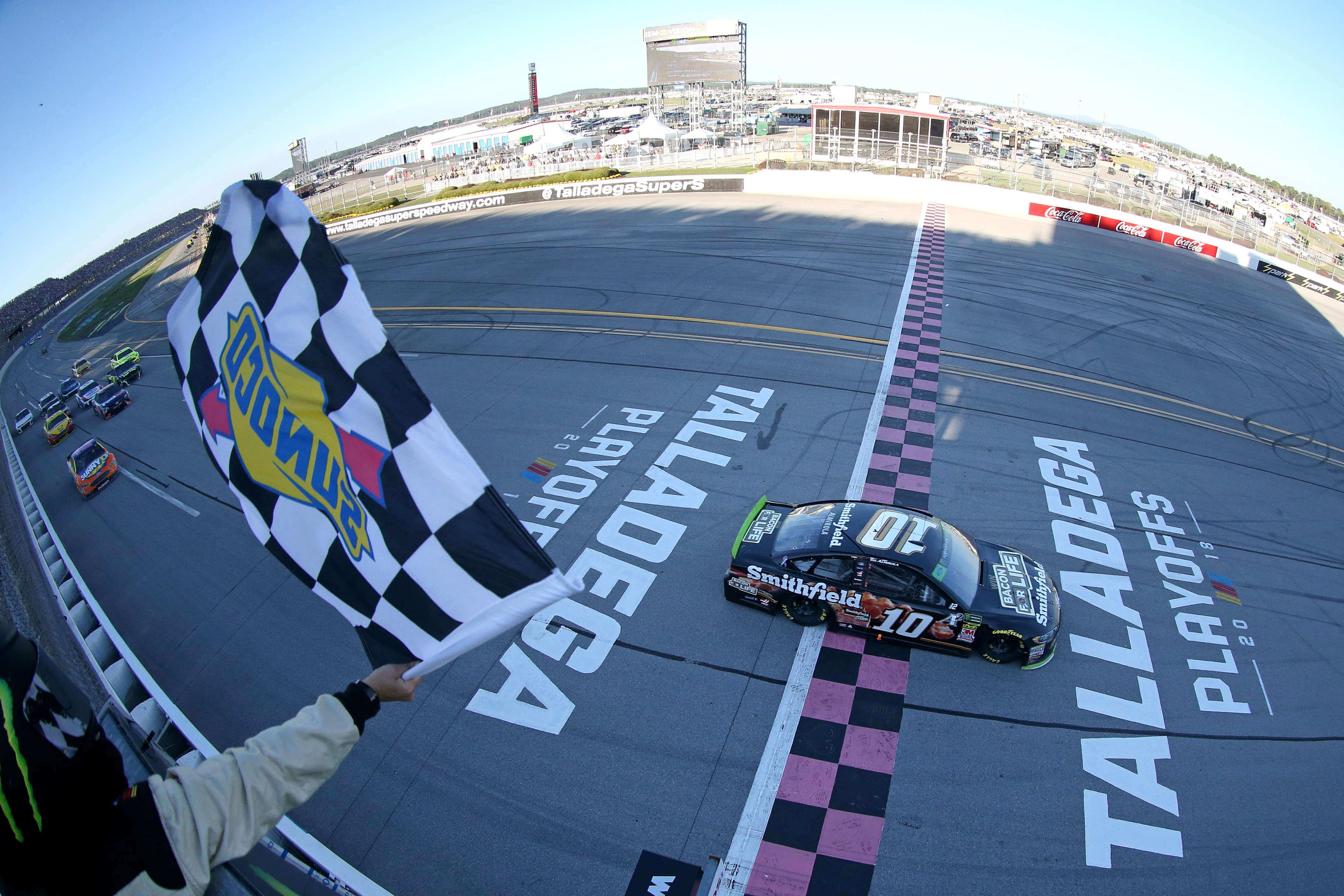 Aric Almirola wins at Talladega Superspeedway - NASCAR Playoffs