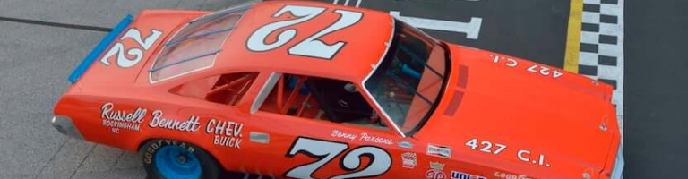 NASCAR race car heading the auto auction after former crew restores the machine
