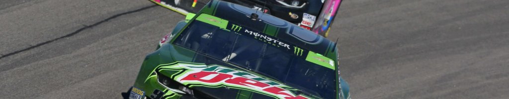Chase Elliott was missing a Monster Energy logo at Kansas due to a small inconsistency in the NASCAR rule book