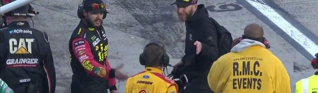 Crew chiefs for Martin Truex Jr and Joey Logano aren't in agreement after Martinsville Speedway