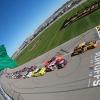 Daniel Hemric leads at Kansas Speedway