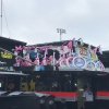 Jimmie Johnson, Martin Truex Jr - Pink bikes