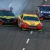 Joey Logano, Martin Truex Jr and Denny Hamlin at Martinsville Speedway - NASCAR Cup Series