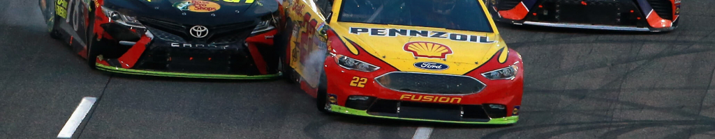 NASCAR reacts to the finish between Logano and Truex at Martinsville Speedway