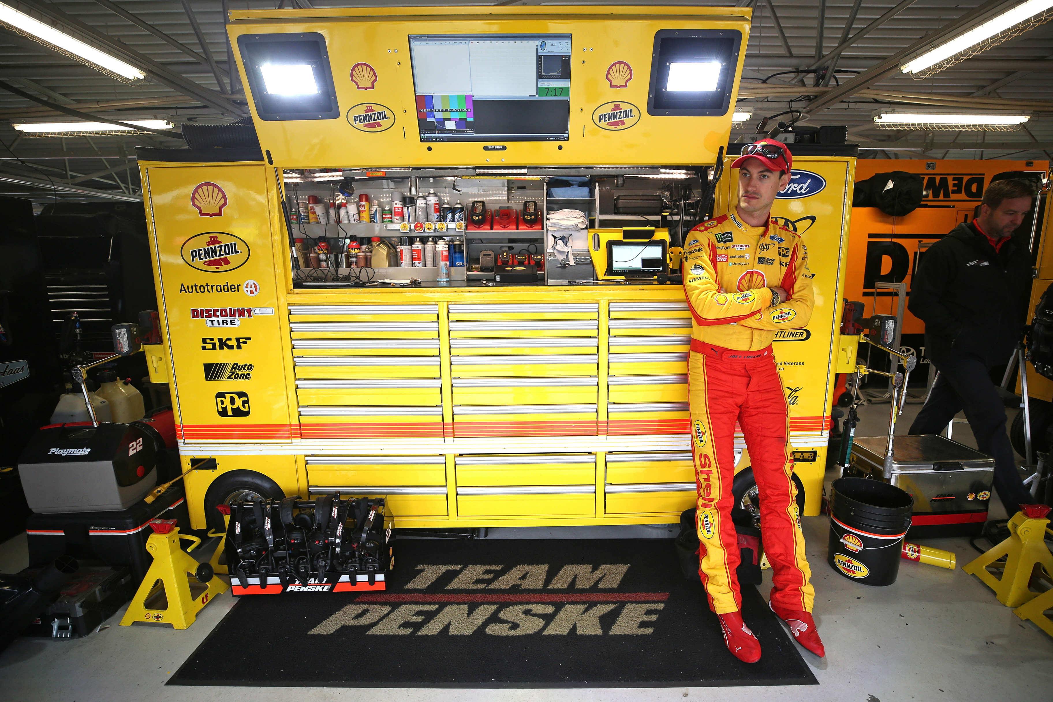 Joey Logano - NASCAR Garage Area