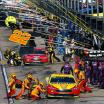 Joey Logano - NASCAR pit stop at Kansas Speedway