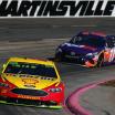 Joey Logano and Denny Hamlin at Martinsville Speedway