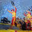 Joey Logano in Victory Lane at Martinsville Speedway