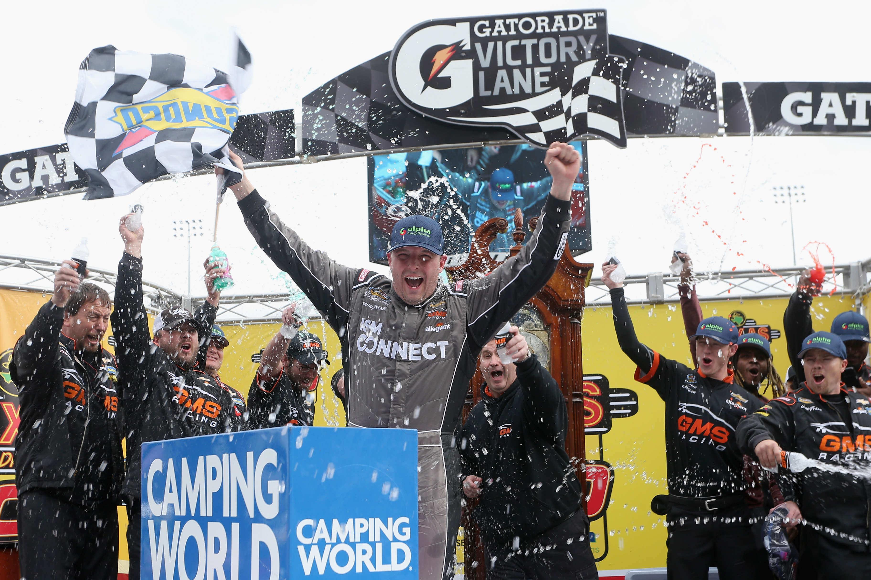 Johnny Sauter wins at Martinsville Speedway