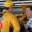 Kevin Harvick and Kyle Busch in the Talladega Superspeedway garage