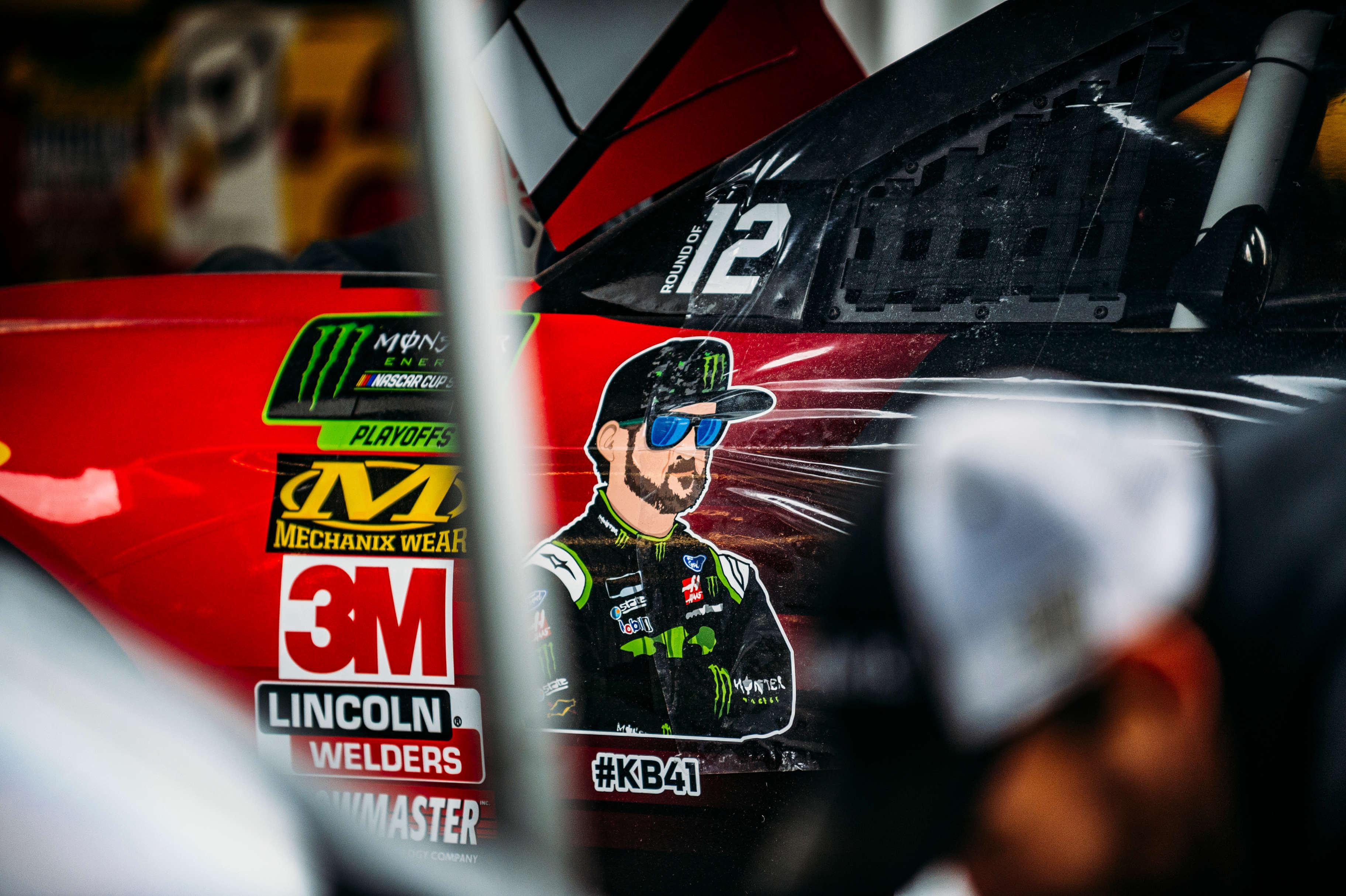 Kurt Busch in the NASCAR garage area at Kansas Speedway (Photo: Jason Hanna | NASCAR Digital Media)