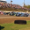 Lucas Oil Late Model Dirt Series at Pittsburgh's PA Motor Speedway for the 2018 Pittsburgher 100 - 6 wide salute 1467