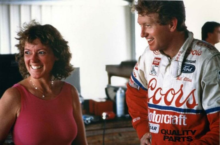 Lyn St James and Bill Elliott